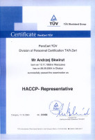 certyfikat specjalista haccp