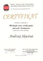 certyfikat zwalczanie meszek i komarów