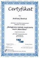 certyfikat zwalczanie much i meszek