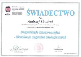 certyfikat dezynfekcja