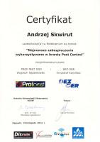 certyfikat zabezpieczenie pest control