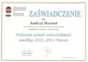 certyfikat ochrona przed szkodnikami