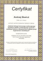 certyfikat biolog terenowy